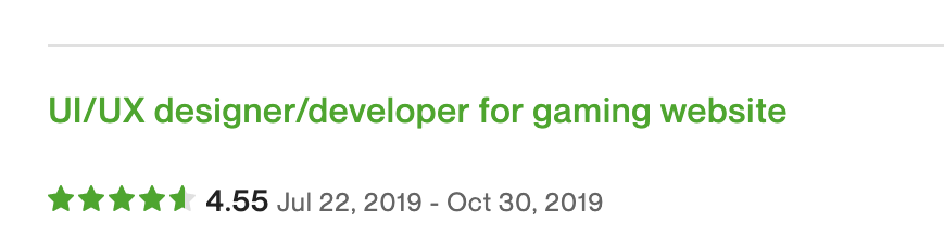 UI/UX designer/developer for gaming website