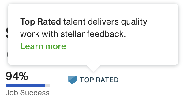 To work with us, means to work with top rated experts.